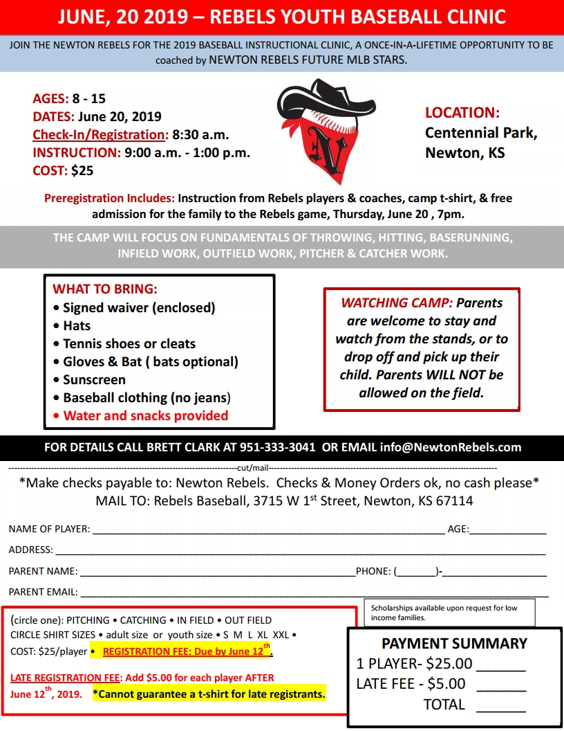 CLINIC FLYER - REGISTRATION 2019